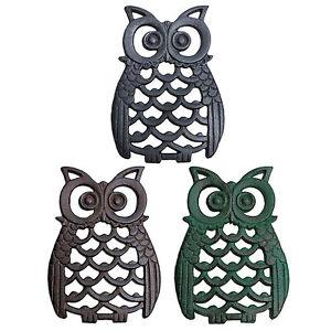 Cast-Iron-Owl-Bird-Garden-Ornament-Metal-Wall-Mountable-Owl-Animal-Ornaments