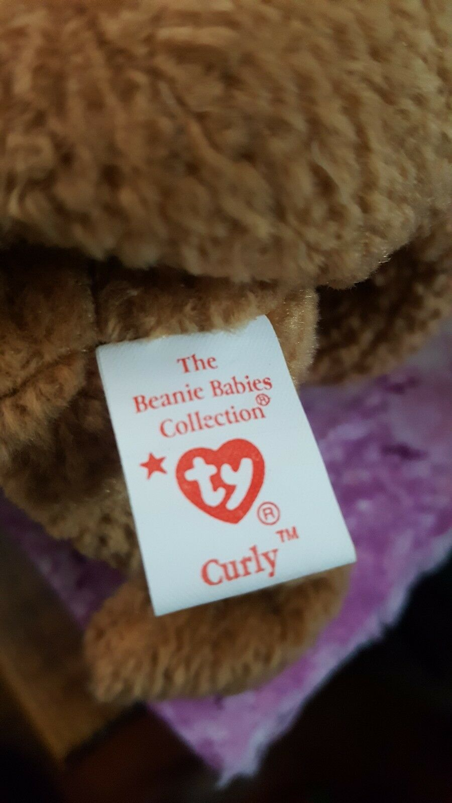 Curly ty beanie beanie beanie baby 1993 Never played with, only stored 3b3286