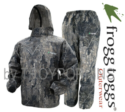 FROGG TOGGS RAIN GEAR-AS1310-61 ALL SPORT REALTREE TIMBER CAMO MENS SUIT HUNTING