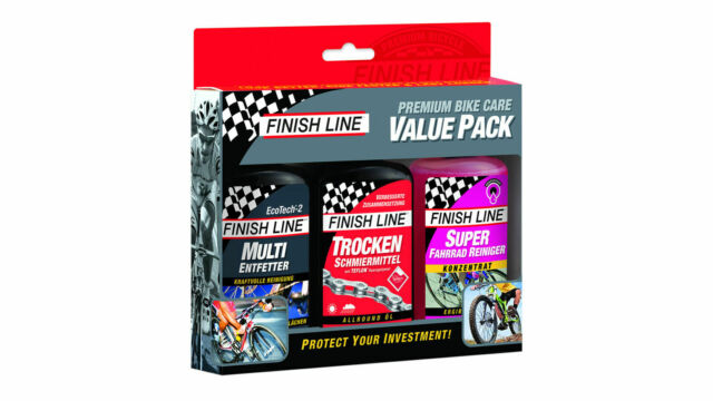 Finish Line Premium Bicicleta Cuidado Valor Paquete 3x120ml Limpio Desengrasante