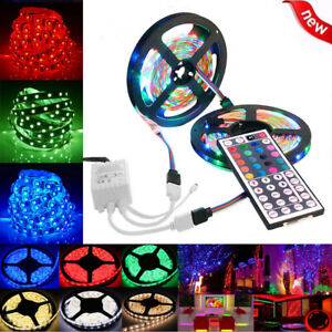 10M-3528-SMD-RGB-600-LED-Strip-light-string-tape-44-Key-IR-remote-control-US