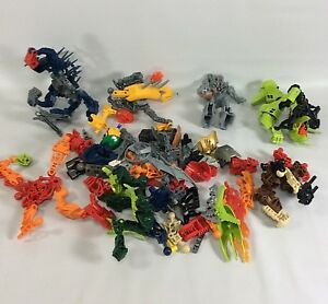 Bionicles-Lot-of-Mixed-Parts-Pieces-Various-Figures-AS-IS-For-Parts