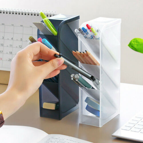 Pencil Pen Holder Stationery Desk Container Desktop Storage Box Organizer Office
