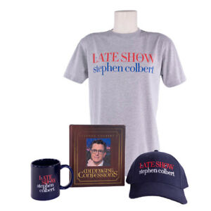Stephen-Colbert-Signed-Midnight-Confessions-Book-and-LSSC-Merchandise