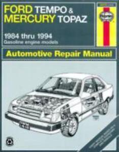 ford tempo mercury topaz 84 94 haynes repair manuals rh ebay com 2005 Ford Freestar Repair Manual Chilton Repair Manuals Ford