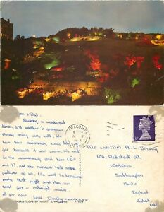 s11111 Southern slope by night Ilfracombe Devon England postcard posted 1968 - London, United Kingdom - s11111 Southern slope by night Ilfracombe Devon England postcard posted 1968 - London, United Kingdom