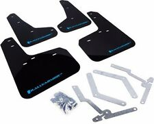 Rally Armor UR Mud Flaps Black w/ Light Blue 13+ Focus ST RS I  MF27-UR-BLK/NB