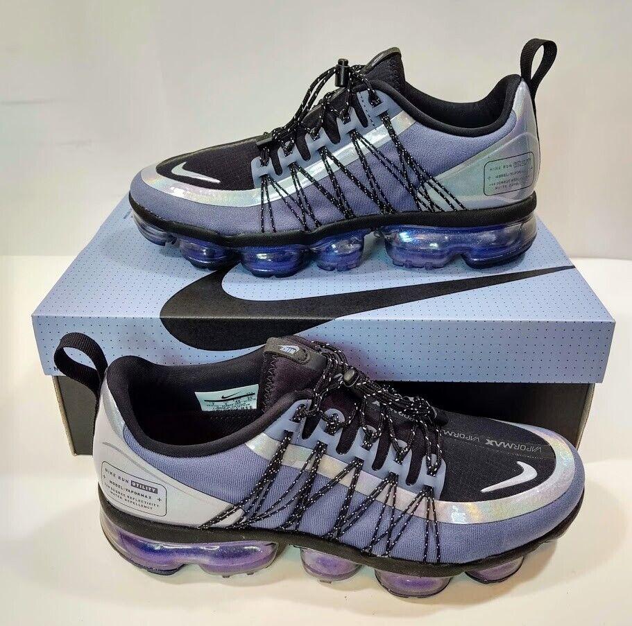 NIB Nike Air Vapormax Run  Utility AQ810 -400 blu Dusk Anthracite Men's SZ 7  fabbrica diretta