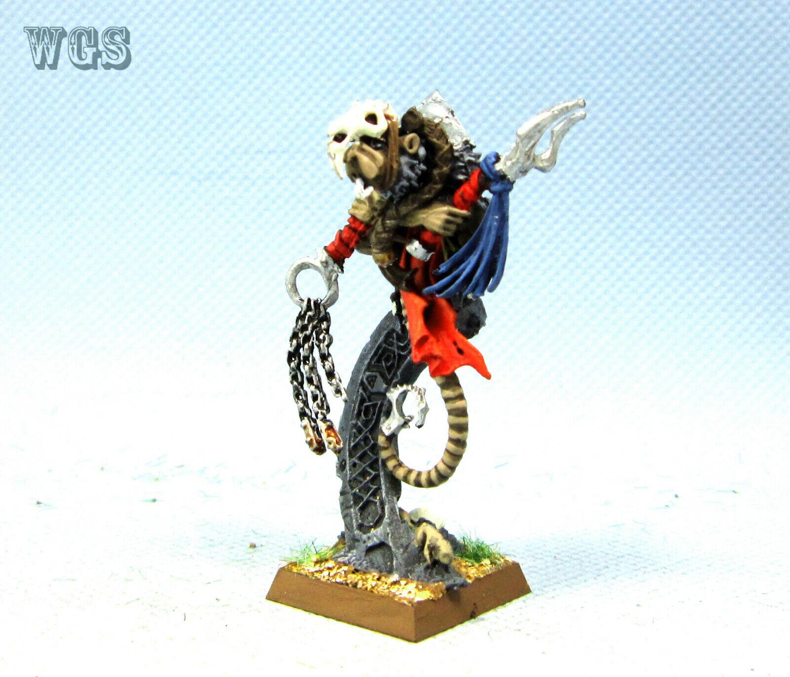 25mm  Warhammer Fantasy WGS painted Skaven Tretch Craventail SK031  pas cher en haute qualité