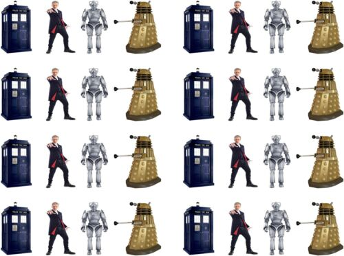 32 x New Dr Who Stand Up Edible Rice Wafer Paper Cupcake Birthday Cake Toppers