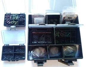 Carp-Fishing-Terminal-End-Tackle-Box-LOADED-Weighs-Lead-Clips-Hooks-Swivels
