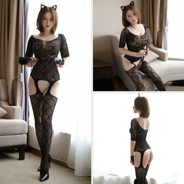 Sz XS S M L Women Sexy Lingerie Bodystocking Dress Underwear Sleepwear Nightwear