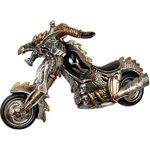 Skull Motorcycle Statue Steampunk Steam Punk Motorbike Motor Bike Hell Rider New Ebay