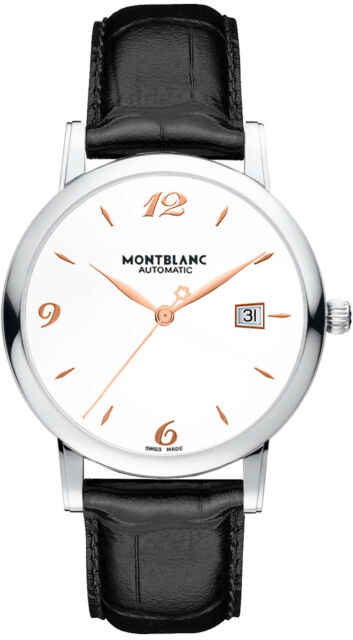 76bf0cd762a Montblanc Star Classic Date Automatic Silver Dial Mens Watch Leather 110717