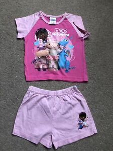 Disney Doc Mcstuffins Court Pyjamas Taille 18-24 Mois-afficher Le Titre D'origine Larges VariéTéS
