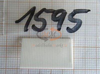10x ALBEDO Ersatzteil Ladegut Rolltor für Koffer Heck weiß H0 1:87-1595