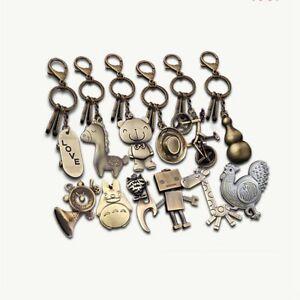 Creative Retro Cute Robots Hat Giraffe Key Ring Keyring Keychain Pendant Gift