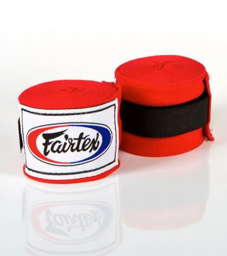 "FAIRTEX FULL LENGTH ELASTIC COTTON HANDWRAPS 180"" HW2 MUAY THAI KICK BOXING MMA"