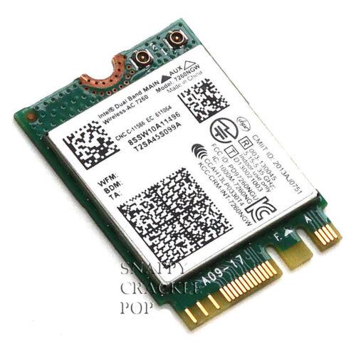 HP EliteBook Revolve 810 G2 Tablet Intel 7260NGW Wireless AC Bluetooth 4.0 Card