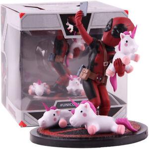 Deadpool-Einhorn-Selfie-Statue-PVC-Figur-Sammlerstueck-Modell-Spielzeug