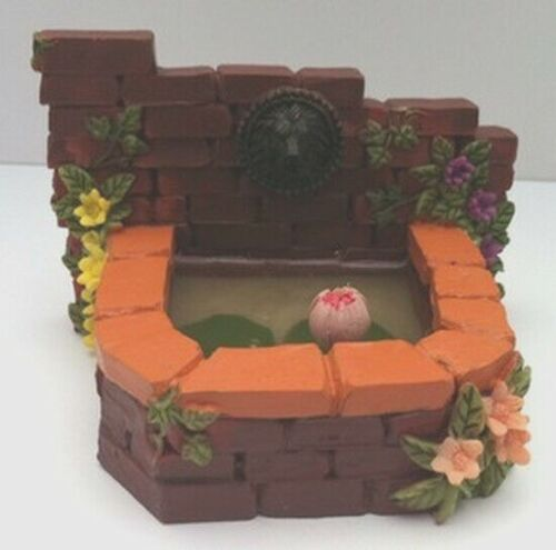 Dolls House Miniature Garden Water Feature Garden Wall Pond Outdoor