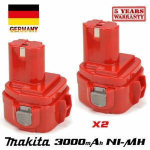 2x-12V-3-0Ah-orginal-AKKU-Fuer-Makita-1220-1222-6213D-4331D-1235F-192598-2-Ni-MH