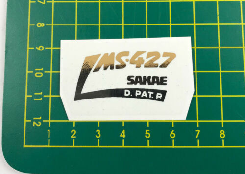 old school bmx decals stickers ms-427 sakae stem chrome on clear