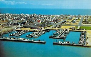 NJ-Beach-Haven-SHELTER-HARBOR-MARIANA-Aerial-View-MINT-Dexter-Press-postcard-B6