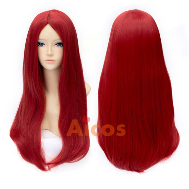the nightmare before christmas sally red straight halloween anime cosplay wigs - Sally Nightmare Before Christmas Wig