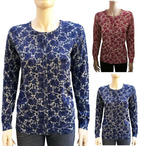 Leo-amp-Nicole-Crew-Neck-Long-Sleeve-Printed-Knit-Sweater-Cardigan-S-XL