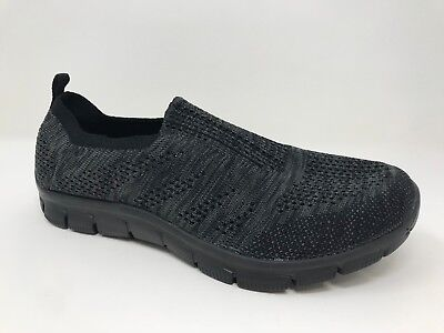 Womens Skechers 12419 Empire Inside Look Slip-On Shoe Charcoal//Black E68 New