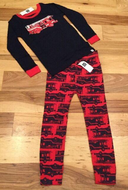 072617e94de8 Baby Gap Boy s Blue Fire Truck Pajamas Size 18-24 Months for sale ...
