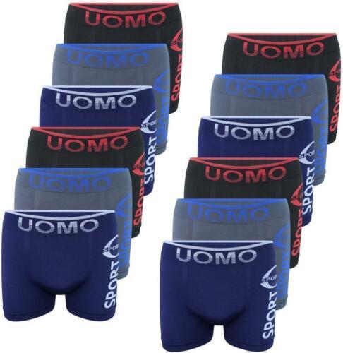 12 STÜCK Herren Boxershorts S-XL Boxer Unterhose Unterwäsche Microfaser Slips