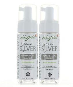 2X Natural Facial Foaming Cleanser W/ Colloidal Silver 5.8FL Exotic & Holistic