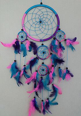 17 Cm X 45 Cm Pink Türkis Lila Dreamcatcher Traumfänger Indianer Träume Geschenk HöChste Bequemlichkeit
