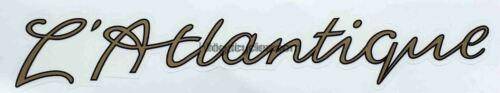 """GILLOTT /""""L/'Atlantique/"""" downtube script."""