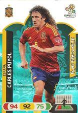 CARLES PUYOL # FAN'S FAVOURITE 1/36 ESPANA CARD PANINI ADRENALYN EURO 2012
