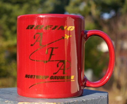 Boeing Coffee Mug Maroon /& Gold AFA Northrop Grumman Accurate Fuselage Assembly