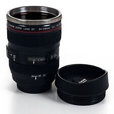 Camera Lens Travel Coffee Mug Stainless Steel Thermos Cup Photographer Friend