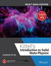Introduction to Solid State Physics by Charles Kittel (2004, Hardcover, Revised)