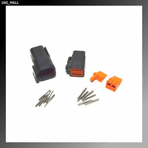 Deutsch DTM 6-Pin Genuine Connector Kit 20-22AWG Solid Contacts USA