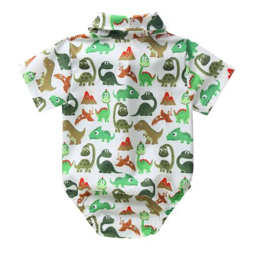 Newborn Baby Boy Clothes Set Short Sleeve Romper Jumpsuit Summer Shirt Outfits