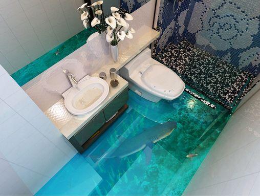 3D Grün Ocean Dolphin Floor WallPaper Murals Wall Print Decal 5D AJ WALLPAPER