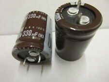 330UF 200v Capacitor 105' SNAP IN NIPPON CHEMICON 22x30mm ELECTROLYTIC 3 pack