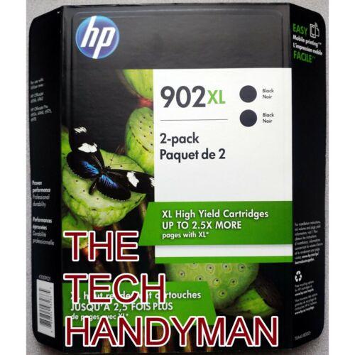 2-PACK HP GENUINE 902XL Black Ink OFFICEJET 6958 6962 WAREHOUSE STORE PACK