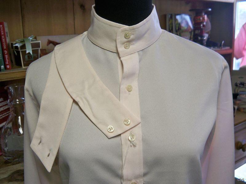 NWT Tailored Sportsman Show Shirt COOLMAX Pebble Weave blueSH Size Ladies 8 36