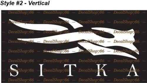 Sitka Gear-Hunting /& Outdoor Apparel /& Gear-Vinyl Die-Cut Peel N /'Stick decals
