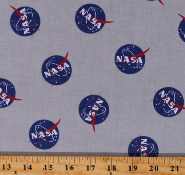 Cotton NASA Logo Out of This World With NASA Fabric Print by the Yard D770.76