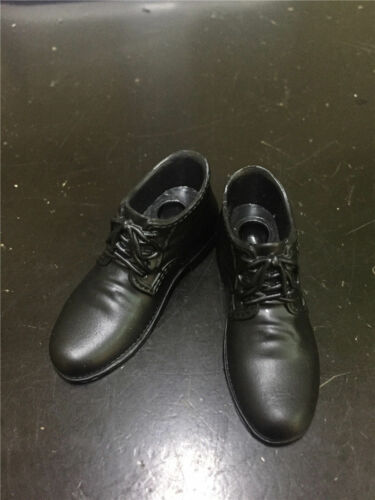 """1//6 Black Men High Heel Casual Leather Shoes F 12/"""" Male Action Figure Body Toys"""