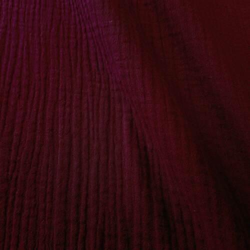 Stoff Meterware Baumwolle Musselin bordeaux Double Gaze Gauze Preis je Meter